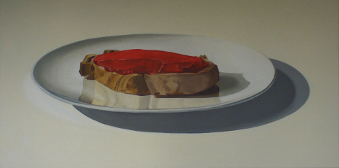 Kadmiumbrot, Cadmium Bread, still life, painting, oil on canvas, Matthias Fitzi